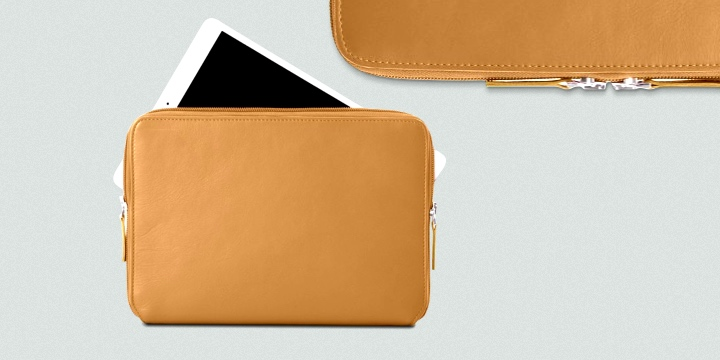 Reissverschlusshülle Für Das iPad Pro 12,9 Zoll 2018 - Rot - Genarbtes Leder